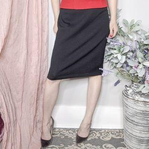 St. John santana knit black skirt pencil chic 314